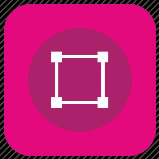app, curve, dots, graphics, square, transform icon