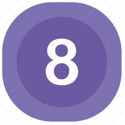 atm, eight, number, square icon
