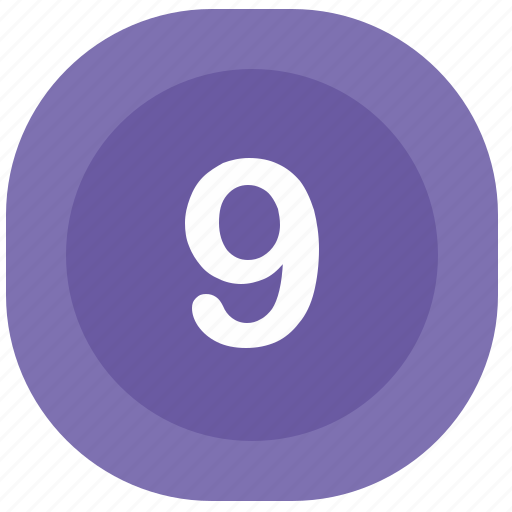 atm, nine, number, square icon