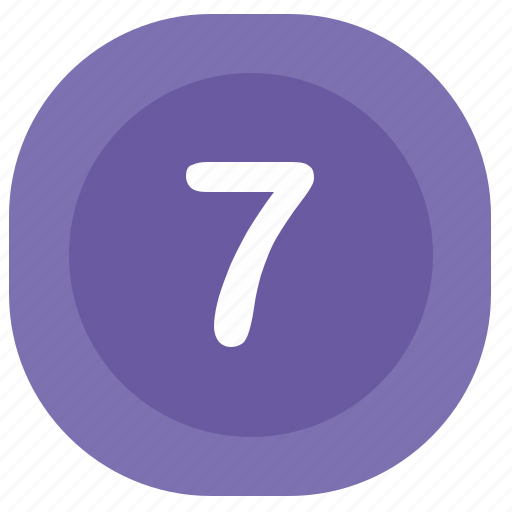 atm, number, seven, square icon
