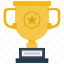 champion, cup, gold, star, winner icon