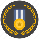 award, first, gold, medal, place, star, winner icon