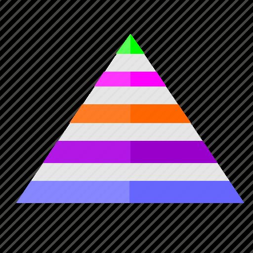 chart, conversion, economic, geometry, triangle icon