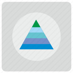 figure, preview, triangle, visual, visualization icon