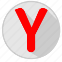 browser, pages, program, view, y, ya, yandex icon