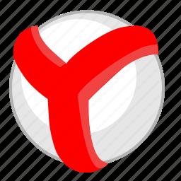 browser, label, program, round, web, y, yandex icon