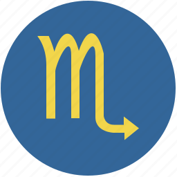 round, scorpio, scorpion, sign, zodiac icon
