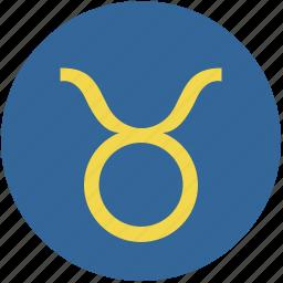 round, sign, taurus, zodiac icon