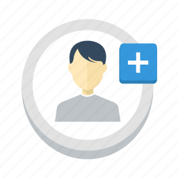 account, add, more, new, plus, ui, user icon
