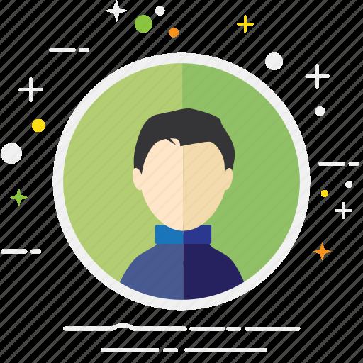 avatar, casual, creative, man, person, user icon