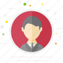 avatar, business, casual, creative, man, person, user icon