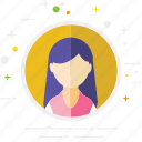 avatar, casual, creative, person, user, woman icon