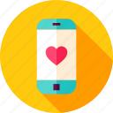 call, heart, love, mobile, phone, smartphone, valentine icon