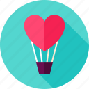 air, balloon, heart, hot, love, travel, valentine icon