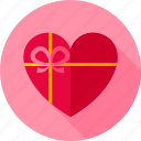 celebration, gift, heart, holiday, love, present, valentine icon
