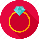diamond, heart, jewelry, love, ring, valentine, wedding icon