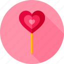 candy, cane, heart, lollipop, love, sweets, valentine icon