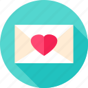 envelope, heart, letter, love, post, postal, valentine icon