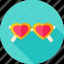 eye, eyeglasses, fashion, glasses, heart, love, valentine icon