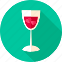 alcohol, drink, glass, heart, love, valentine, wine icon