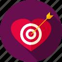 aim, arrow, heart, love, sport, target, valentine icon