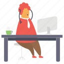 frustrated employee, stressed employee, work pressure, work stress, workload icon