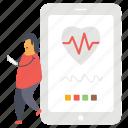 health app, healthcare app, medical app, mobile app, online healthcare icon