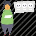 appreciation, assessment, customer feedback, customer rating, evaluation icon