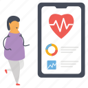 health app, healthcare app, medical app, mobile app, online healthcare icon
