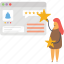 online feedback, online ranking, online rating, online review, testimonials icon