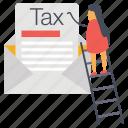 tax document, tax letter, tax mail, tax message, tax paper icon