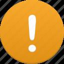 alert, exclamation, danger, alarm, attention, warning, error, problem