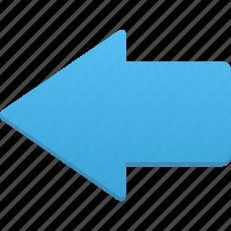 arrow, back, left, previous, undo icon