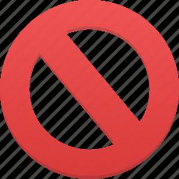 ban, cancel, no, remove, stop icon