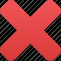 cancel, close, cross, delete, exit, remove icon