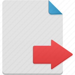 document, documents, export, file, page icon
