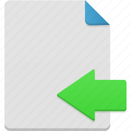 document, file, import icon