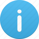 about, help, info, information, message, support icon