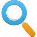 find, magnifier, magnifying glass, search, view, zoom icon