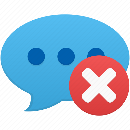 chat, comment, communication, delete, message, remove, talk icon