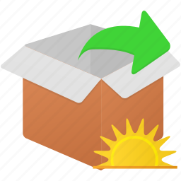 box, changes, export, extract, todays icon
