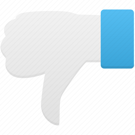 down, gesture, hand, thumb icon