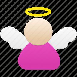 angel, avatar, emoticon, smiley, wing icon