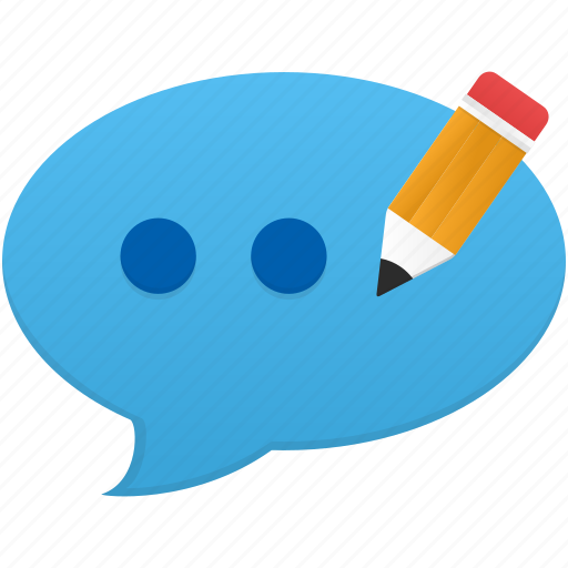 chat, comment, communication, edit, message, text icon