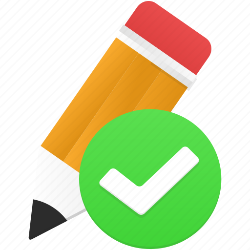 design, draw, drawing, edit, pencil, validated, write icon