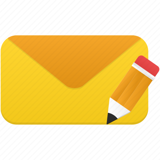 edit, email, envelope, letter, message icon