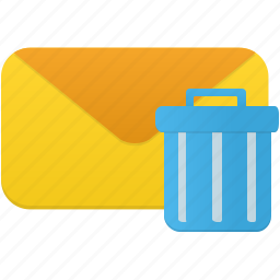 email, envelope, letter, mail, message, trash icon
