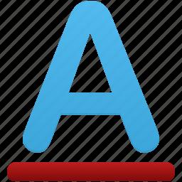 color, font, letter, text icon