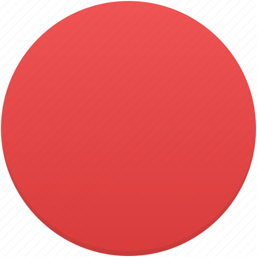 circle, red, round, trafficlight icon