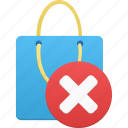 bag, delete, item, remove, shopping icon